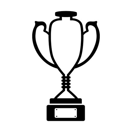 Award cup line simple icon