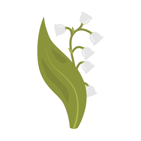 Spring flower flat icon Vector illustration.