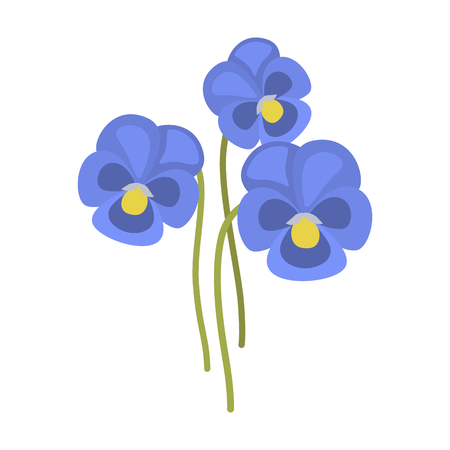 Spring flower flat icon