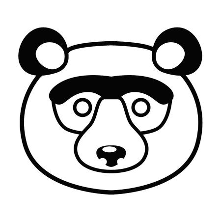 Animal muzzle line simple icon Vector illustration. Illustration