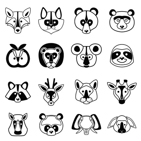 Animal muzzle line simple set