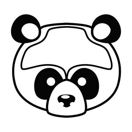 Animal muzzle line simple icon