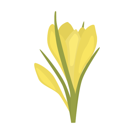 Spring flower flat icon Vector illustration.