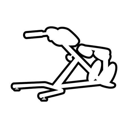 Sport equipment line icon