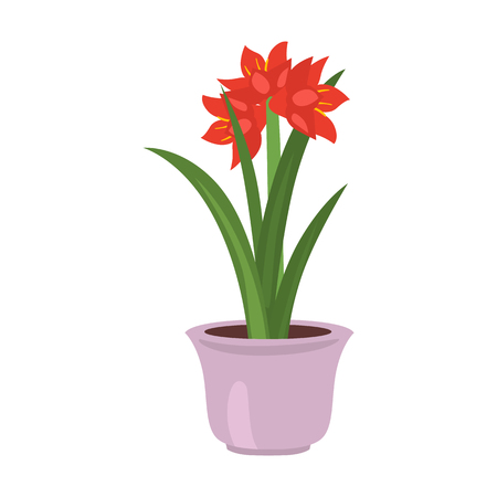 Home flower red flat icon