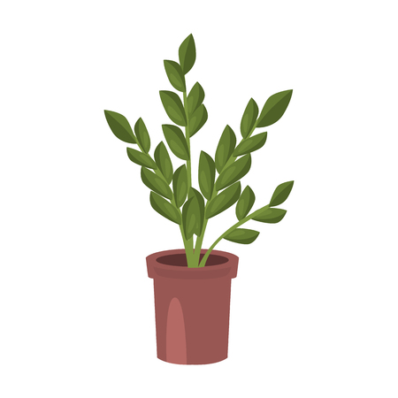 Home flower flat icon isolated on  plain background.