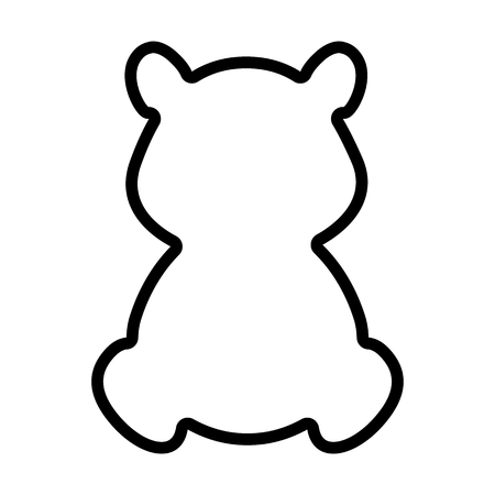 A bear line icon isolated on  plain background.