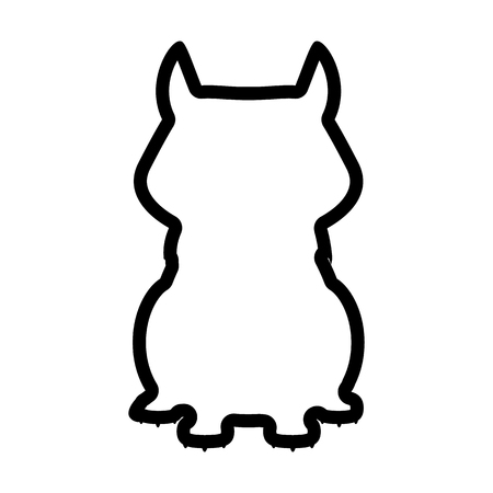 A panther line icon isolated on  plain background. Illustration
