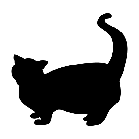 Cat black simple icon Illusztráció