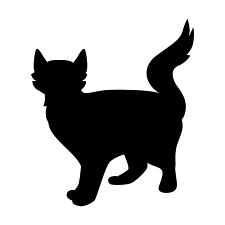 Cat black simple icon Illustration