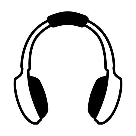 Headphones line simple icon