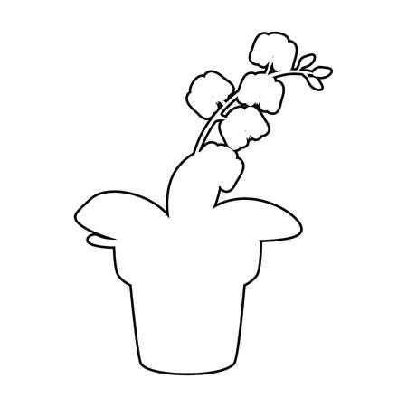 Home flower line simple vector icon illustration. Illustration