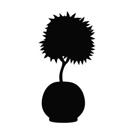 Home flower black simple vector icon illustration.