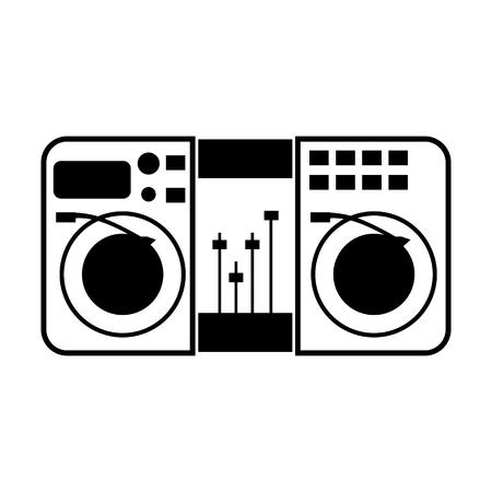 Music remote control line simple icon
