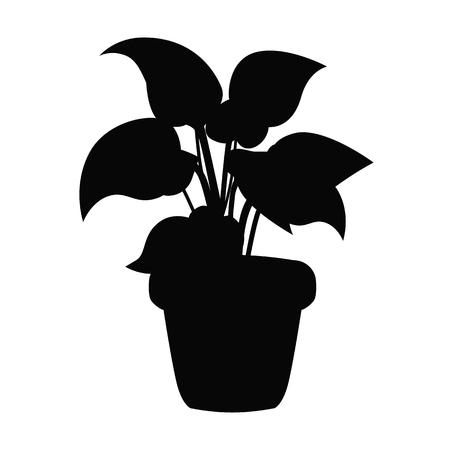 Home flower black simple icon Vector illustration.