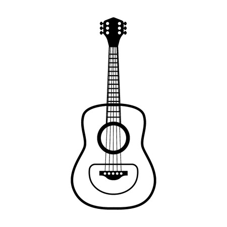 classical guitar line simple icon Vector illustration. Illusztráció