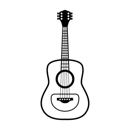 classical guitar line simple icon Vector illustration. Illustration