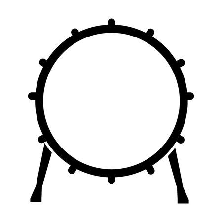 Tambourine line simple icon Illustration