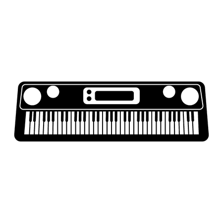Synthesizer line simple icon Vector illustration.