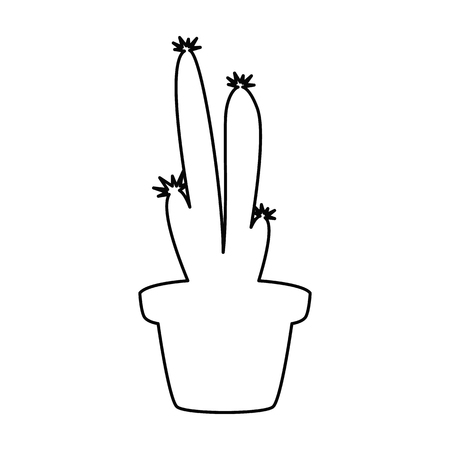 Home flower line simple icon Vector illustration.