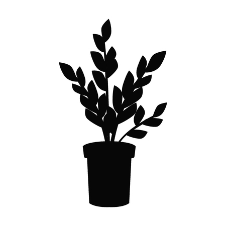 Home flower black simple icon