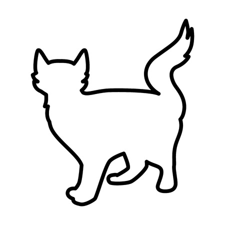 Cat line simple icon Vector illustration.