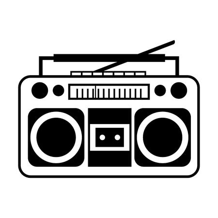 Record player line simple icon Vector illustration. Illustration