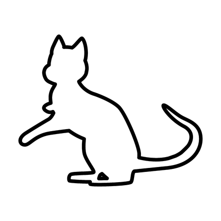 Cat line simple icon