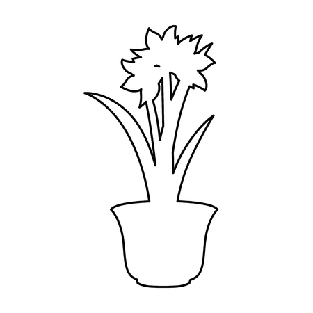 Home flower line simple icon
