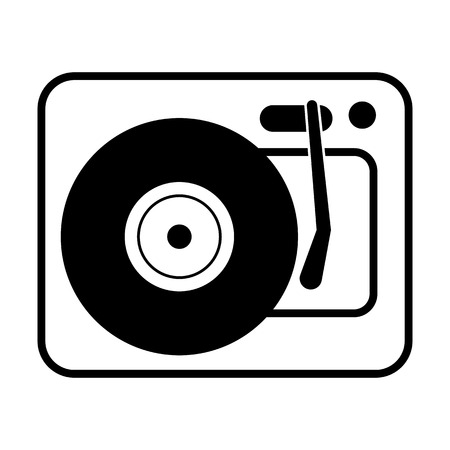 Turntable line simple icon Vector illustration. Illustration
