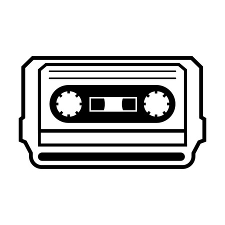 Music cassette line simple icon