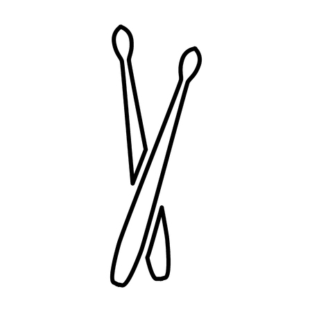 Drumstick line simple icon