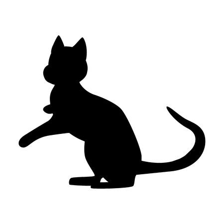 A Cat black simple icon
