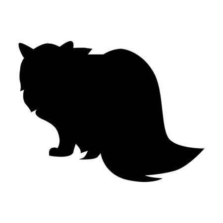 A Cat black simple icon isolated on plain background