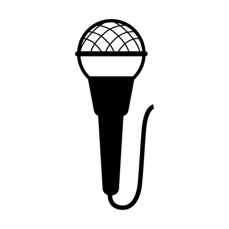 Microphone line simple icon