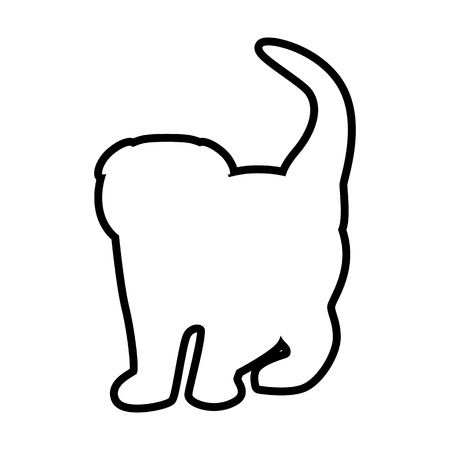 A Cat line simple icon