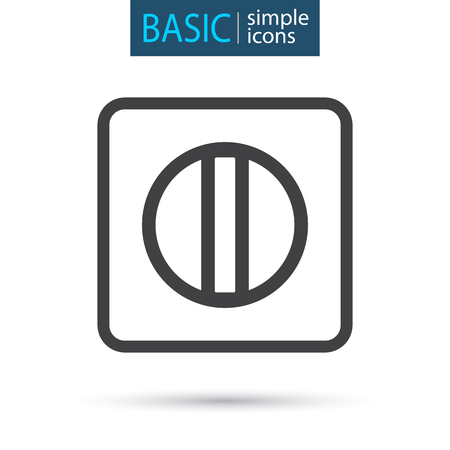 medical tablet simple line icon Stock Illustratie