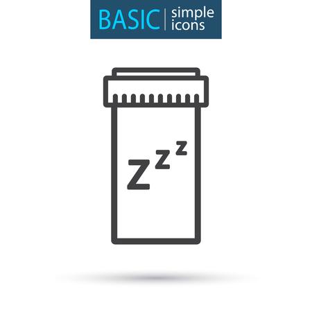 medical tablet simple line icon Vector Illustratie