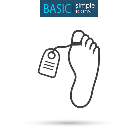 medical corpse simple line icon
