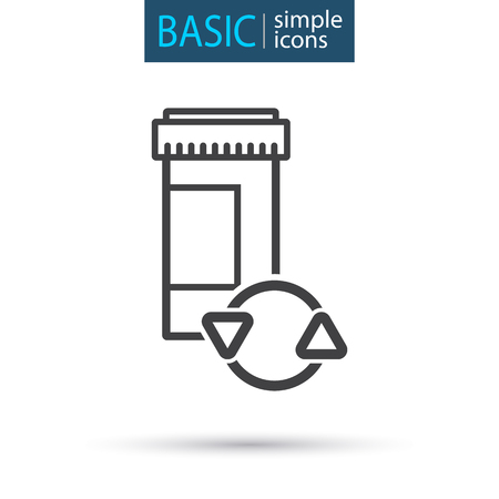 medical tablet simple line icon Vector illustration.