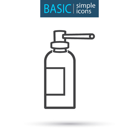 medical spray simple line icon Vector illustration. Stock Illustratie