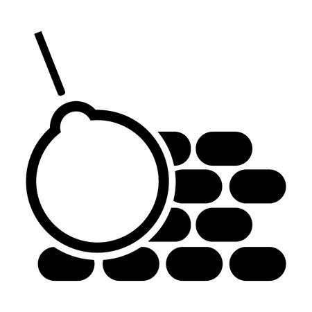 Construction line icon Vector illustration.