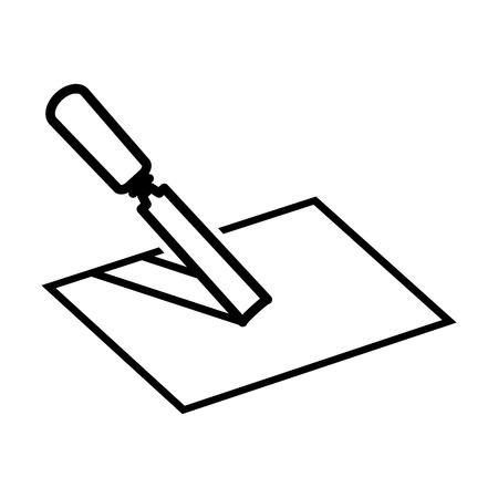 Construction line icon Illustration