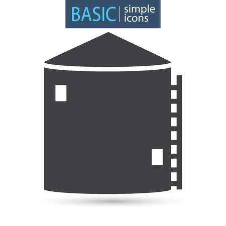 Silo tower simple basic icon