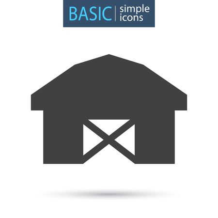 Agriculture warehouse simple basic icon