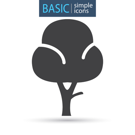 Garden tree basic simple icon Illustration
