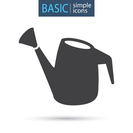 Garden watering can simple basic icon