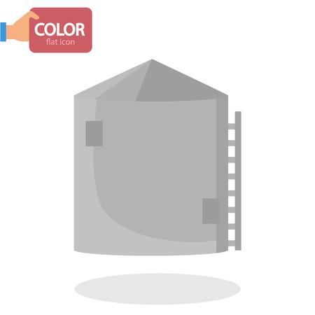 Silo tower flat icon icon