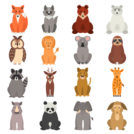 Animal flat color icon Illustration