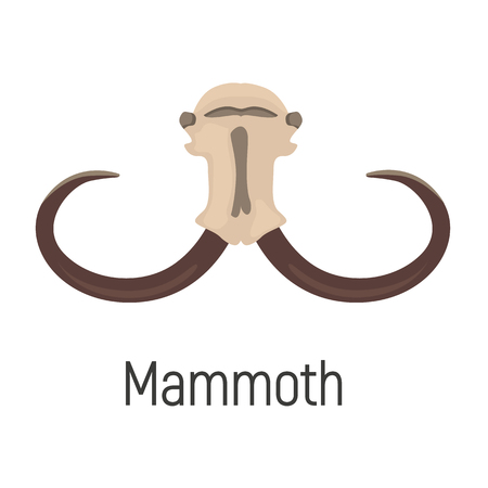 Mammoth color vector icon. Flat design